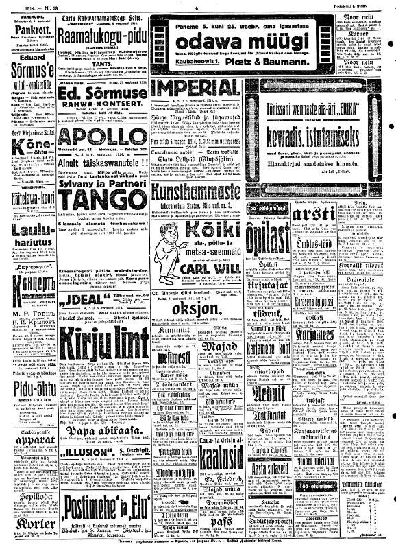 1914-02-04 Postimees nr 28 4. lehekülg pikem külg 800px