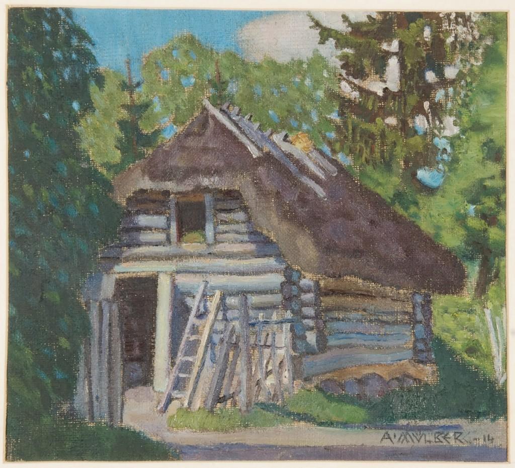 Ait. (Küün Lagedil). 1915-16. Õli, lõuend. ERM_K_5329