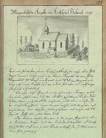 Taagepera kabel (Wagenkülsche Kapelle im Kirchspiel Helmet ). Johann Christoph Brotze 1795