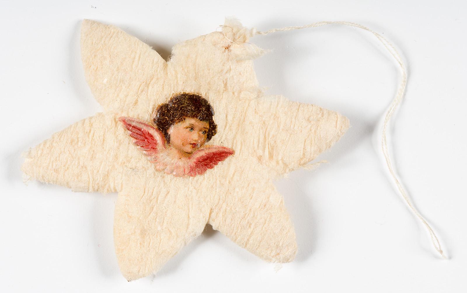 Papist ja villast tärn ingli pildiga,